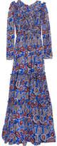 Dodo Bar Or - Elvis Ruffled Paisley-print Silk-crepe Maxi Dress - Blue