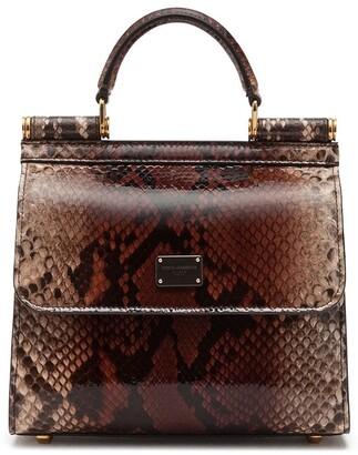 Dolce & Gabbana Sicily snakeskin-effect tote bag