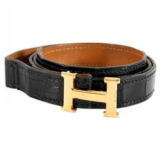 Hermã ̈S HermAs H Black Alligator Belts
