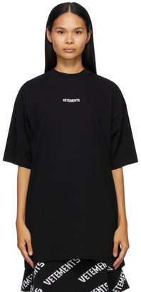 Vetements Black Logo Patch T-Shirt