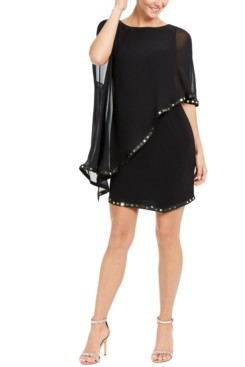 MSK Embellished Cape-Overlay Sheath Dress