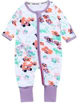 Kids Tales Baby girl Flowers Footed Handed Zipper Pajama Sleeper Cotton Romper