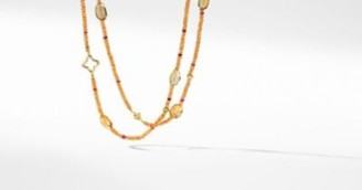 David Yurman Dy Signature Bead Necklace With Citrine And Spessartite