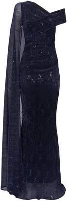 Talbot Runhof Sequin Rosedale Gown
