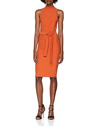 New Look Women's Tie Front Sleevless 6115089 Mini Party Dress,8 UK (Manufacturer Size: 36)