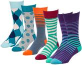 Switch Purple 5 Pairs Men's Crew Socks