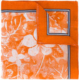 Kiton floral print pocket square - men - Linen/Flax - One Size