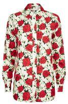 Alexander Wang Rose Print Silk Shirt