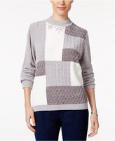 Alfred Dunner Embellished Colorblocked Sweater