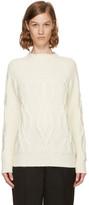 Lanvin Ivory Wool Argyle Sweater