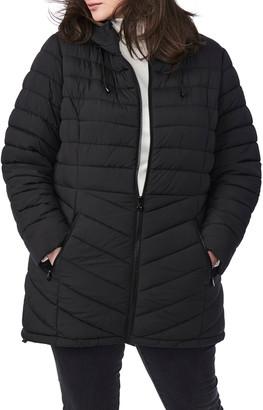 Bernardo Bernado Packable EcoPlume Hooded Walker Coat