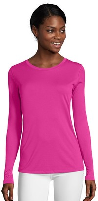 Hanes Women's Cool Dri Long-Sleeve Performance Tee