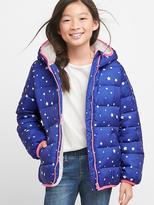 Star cozy puffer hoodie