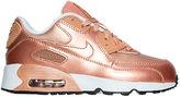 Nike Girls' Preschool Air Max 90 SE Leather Running Shoes
