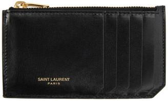 Saint Laurent Black Fragment Card Holder