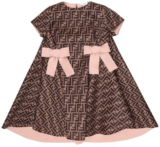 Fendi Kids FF neoprene dress