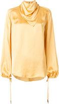 Nina Ricci shawl collar blouse