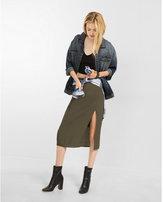 Express slit front midi pencil skirt