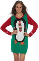 It's Our Time Juniors' Christmas Sweaterdress