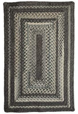 """Millwood Pines Mont Hand-Braided Wool Gray Area Rug Rug Size: Rectangle 20"""" x 30"""""""