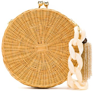 Serpui Marie Circle wicker bag