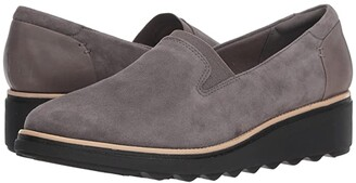 Clarks Sharon Dolly (Black Suede) Women's Shoes