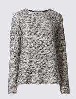 Marks and Spencer Boucle Long Sleeve Jersey Top