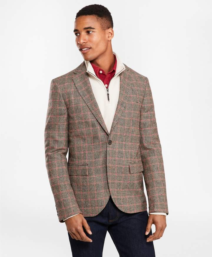 Brooks Brothers Two-Button Lambswool Tweed Sport Coat
