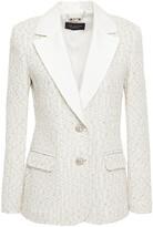 Thumbnail for your product : St. John Satin-trimmed Metallic Tweed Blazer