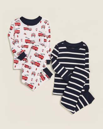 Little Me Infant Boys) 4-Piece Fire Truck Pajama Set