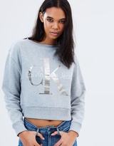 Calvin Klein Jeans Foil Cropped Sweatshirt