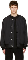 Alexander Wang Black Nylon Bomber Jacket