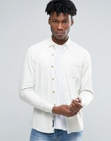 Pull&Bear Denim Shirt In Bleach Wash In Regular Fit