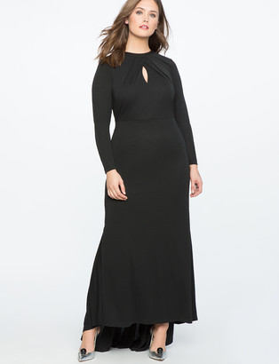 ELOQUII Keyhole Neckline Gown