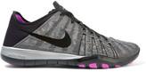 Nike Free Tr 6 Metallic Mesh And Neoprene Sneakers - Gray