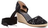Aldo Cundari Ankle Tie Wedge Sandal