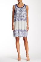 Max Studio Printed Pleated Shift Dress