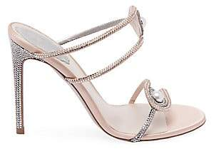 86668a050d8 Women's Crystal & Pearl Embellished Strappy Stiletto Sandals
