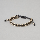 CCC String Bracelet With Gold Nugget Beads