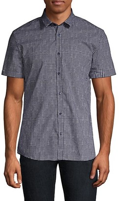HUGO BOSS Empson Extra Slim-Fit Check Short-Sleeve Woven Shirt