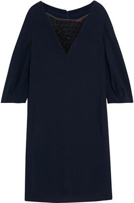 Max Mara Frank Bead-embellished Tulle-paneled Crepe Dress