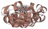 Quoizel Ribbons 6-Light Extra-Large Flush-Mount Light in Satin Copper