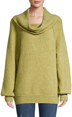 Free People Cowlneck Knit Sweater