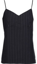 Tibi Delmont Pinstriped Wool-Blend Camisole
