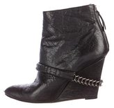 Givenchy Chain-Link Wedge Ankle Boots