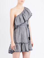 Zimmermann Paradiso Gingham linen and cotton-blend mini dress