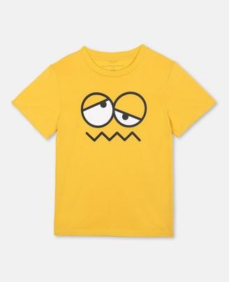 Stella Mccartney Kids Stella McCartney emoji face cotton t-shirt