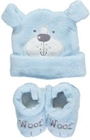 "Sweet & Soft Baby Boys' ""Woof"" Hat & Booties Set"