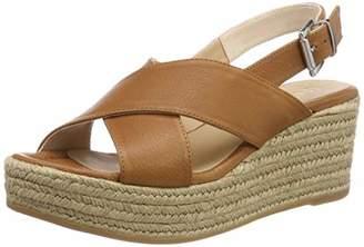 Unisa Women's Kensa_sty Ankle Strap Sandals, Brown Cuir