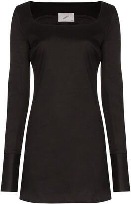 Coperni square neck mini dress